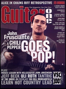John Frusciante on Guitar One Cover 2001