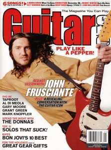 John Frusciante on Guitar One Cover 2003